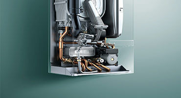 Open boiler for servicing
