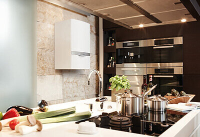 New boiler install in modern-looking kitchen
