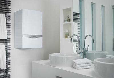 Vaillant boiler install in bathroom