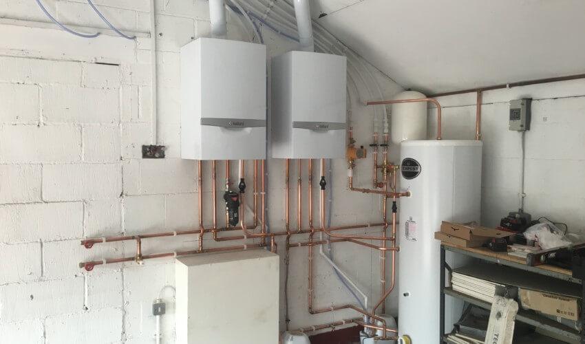 Boiler system installed in home