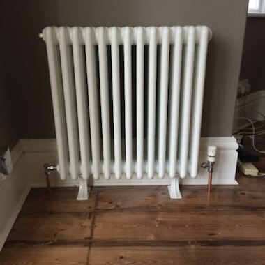 radiator installed in home