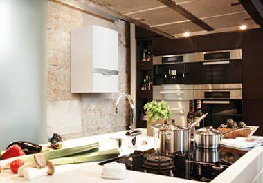 boiler installed into kitchen