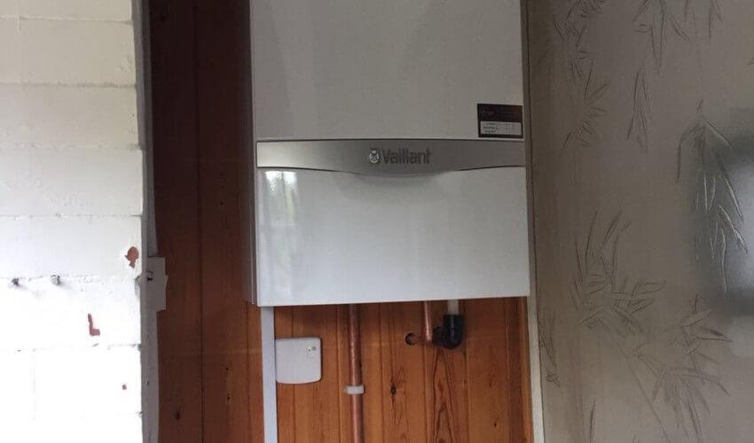 Boiler installed in home