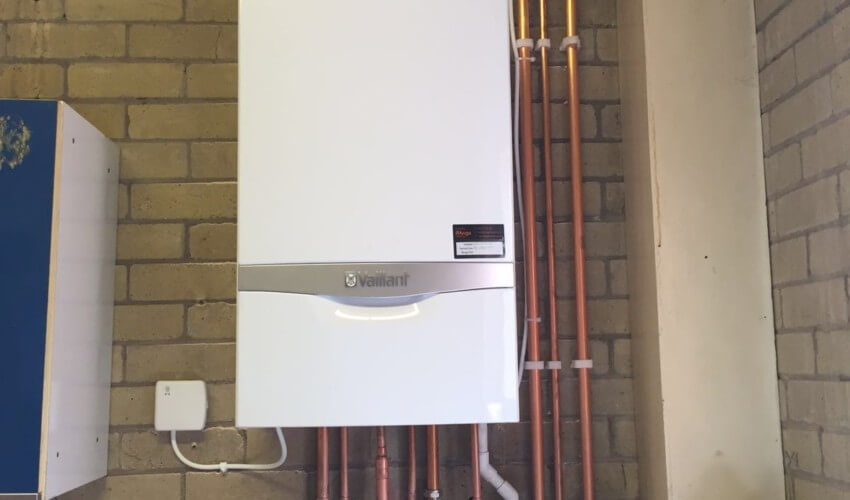 Vaillant Boiler with pipe network