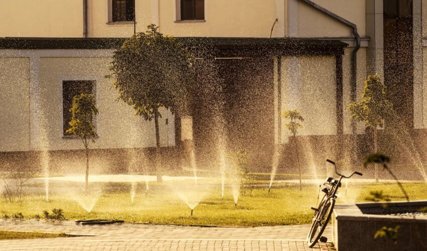 Water Sprinklers in the Summer