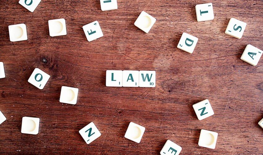 Scrabble Tiles Spelling Law