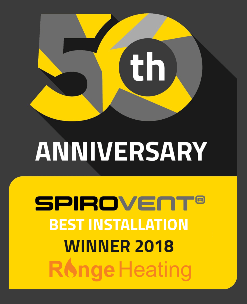 SpiroVent 50th Anniversary Best Installation Winner Range Heating